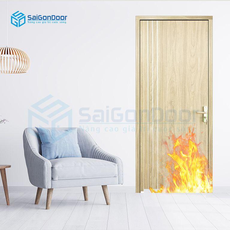 Cửa gỗ chống cháy phòng ngủ cách âm